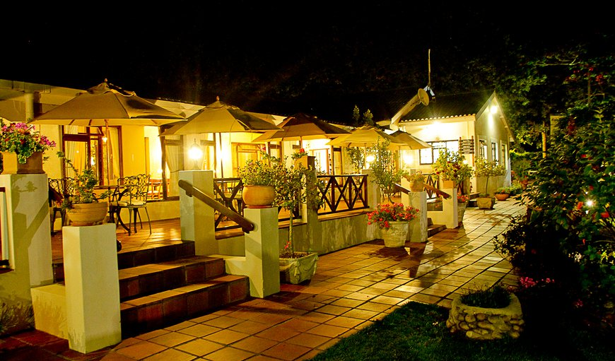 Eight Bells Mountain Inn - Patio at night in Mossel Bay, Western Cape , South Africa