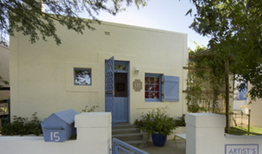 Entrance courtyard facing street in Prince Albert, Western Cape , South Africa