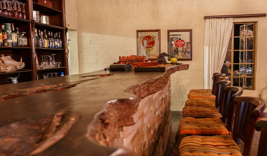 Shikwari Suites fully licensed Warthog Bar.