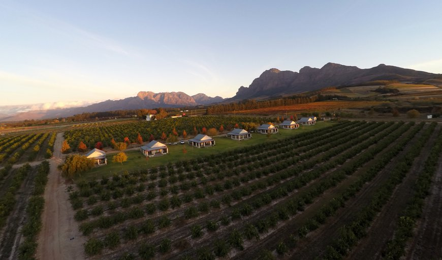 Birds eye view in Simondium, Paarl, Western Cape , South Africa