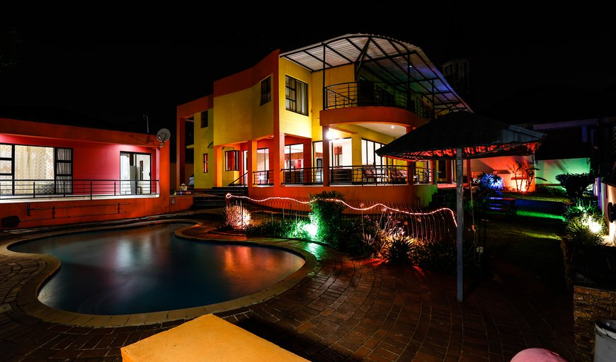 The Guest House at night