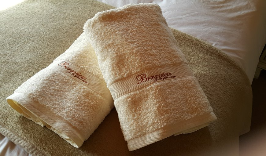 Luxury bath sheets provided to guests