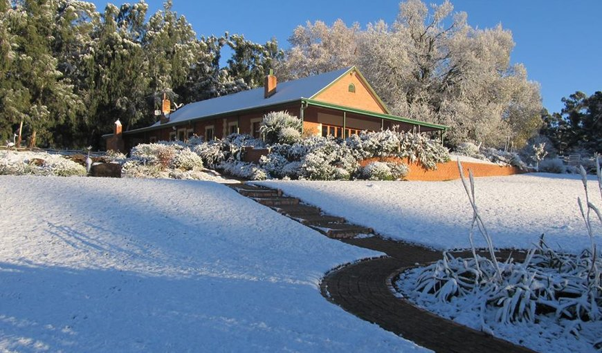 Ogram's Country House surrounded by a blanket of snow