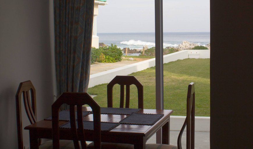 Dining table with sea view