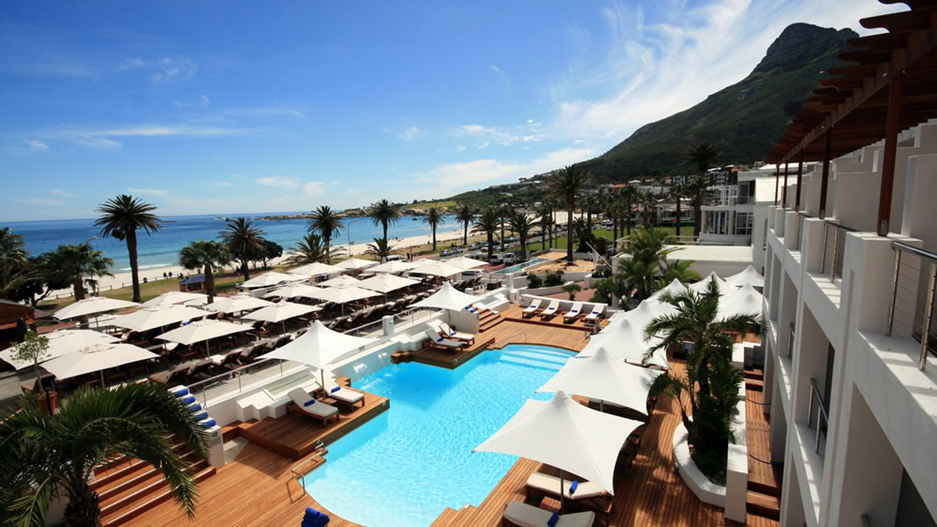 The Bay Hotel in Camps Bay is situated on the main strip of the affluent suburb