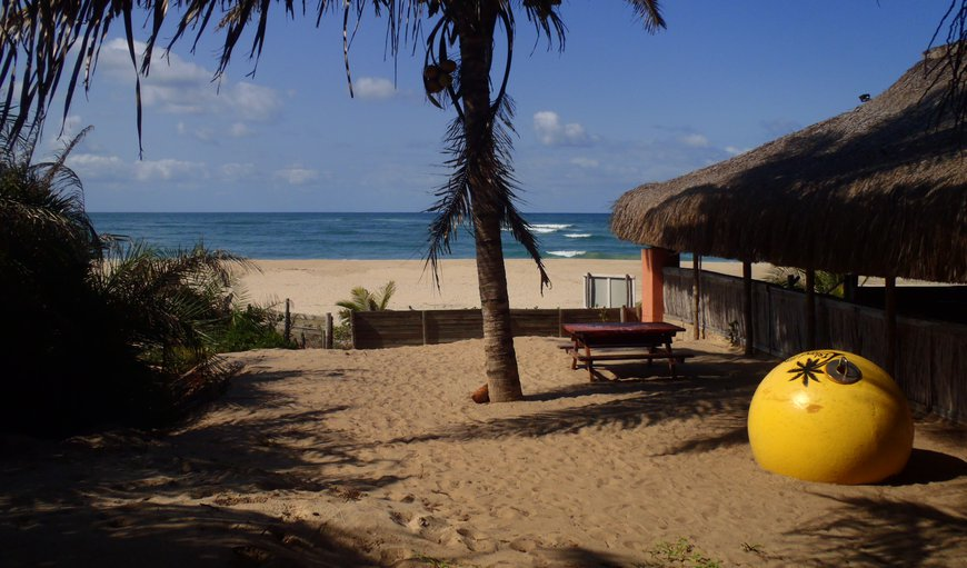 Restaurant Entrance to Sea View in Pomene Bay , Inhambane Province, Mozambique