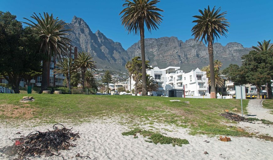 View from beach in Camps Bay, Cape Town, Western Cape, South Africa