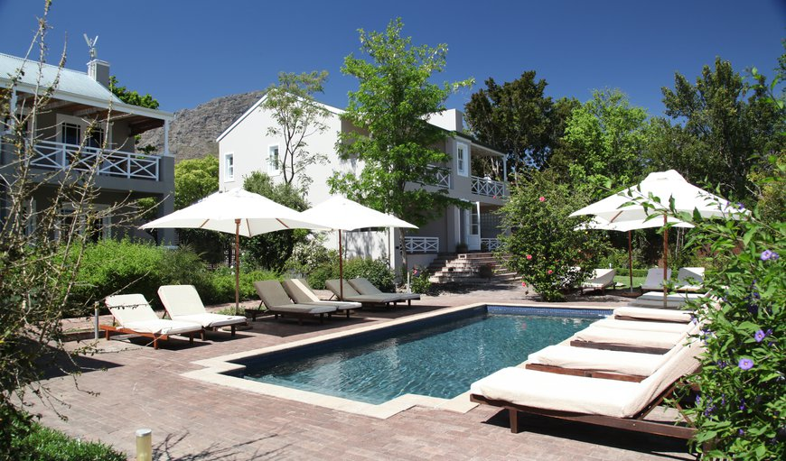 swimming pool and villa in Franschhoek, Western Cape , South Africa