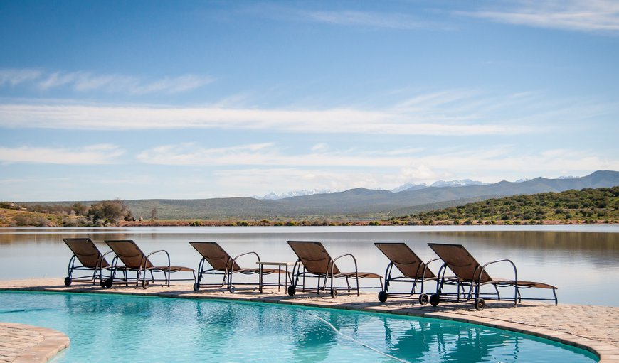 Swimming pool in Oudtshoorn, Western Cape , South Africa