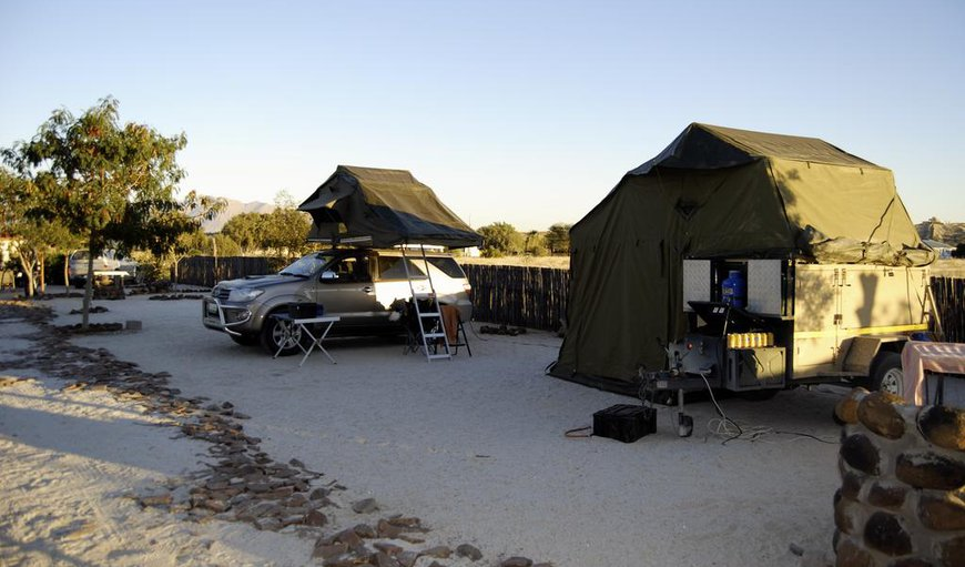 Camping at Brandberg Rest Camp in Uis, Erongo, Namibia