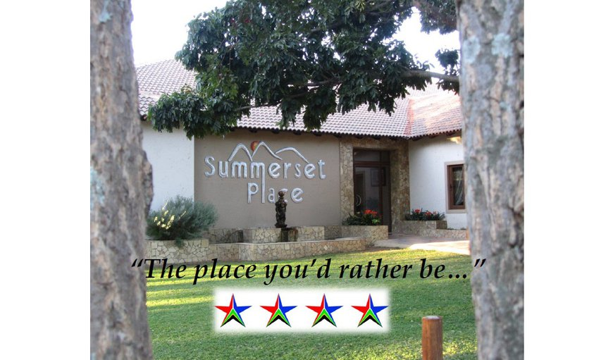 Welcome at Summerset Place - view of our front door from the parking area in front of the reception in Bela Bela (Warmbaths), Limpopo, South Africa