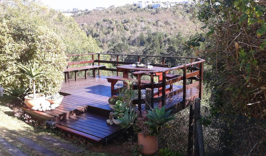 Madon Studio Self Catering apartment features a wooden deck with spectacular views.