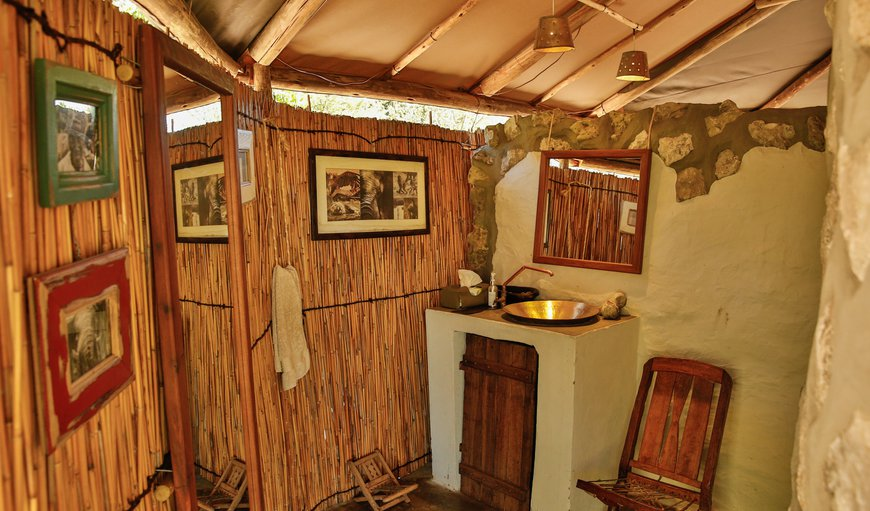 Indoor and outdoor bathroom facilities