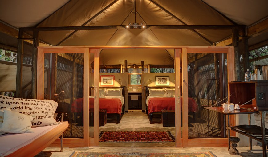 Freshly renovated tented accommodation with en-suite bathroom as well as outdoor shower and toilet. Each tents boasts a private verandah with beautiful views over the Boteti River and Makgadikgadi Pan National Park.  in Makgadikgadi Pans, North East District , Botswana