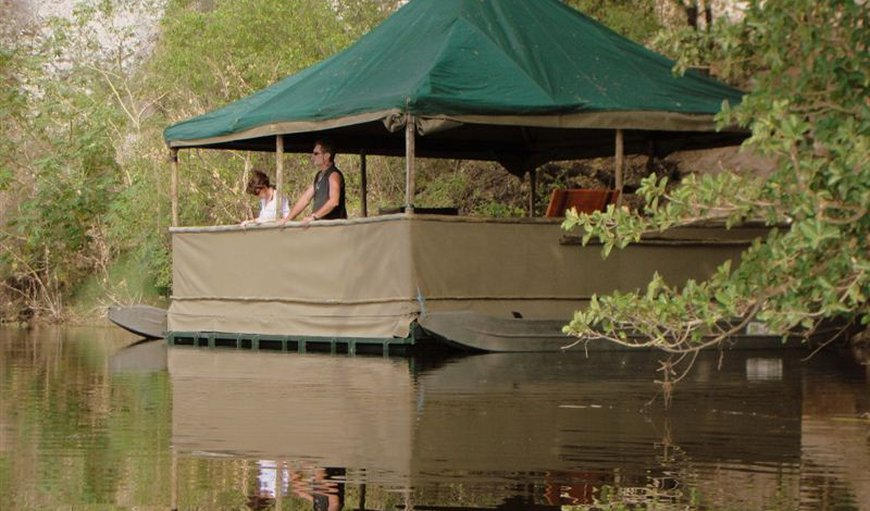 For yet another fantastic safari experience, spend a lazy day in camp in our floating viewing hide for an unobtrusive game viewing experience and incredible photographic opportunities. The twenty five square metre floating vessel is within walking distance of camp while further reducing negative impact on the environment.