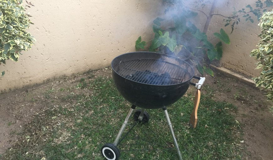 Own private quart yard with braai