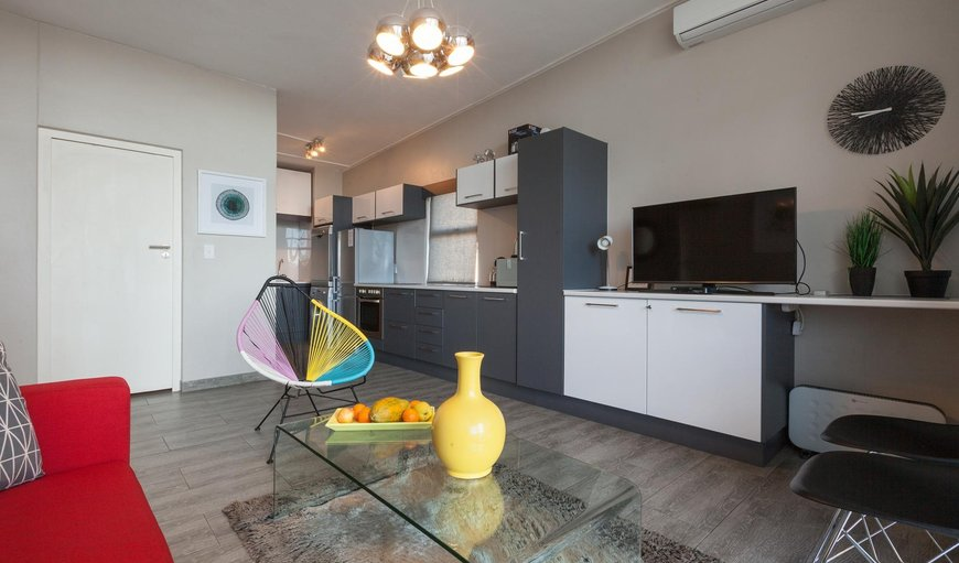 Open-plan kitchen and lounge. in Cape Town City Centre / CBD, Cape Town, Western Cape, South Africa
