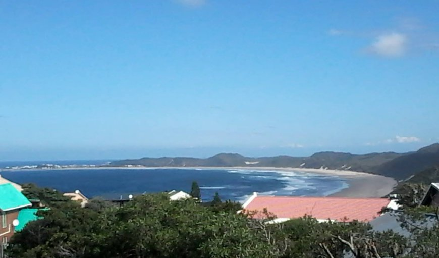 View from western deck:  Splendid main beach with Buffels Bay in the distance!
