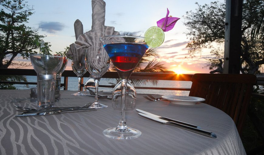 Sunset dinner at the Grill Del Sol Restaurant