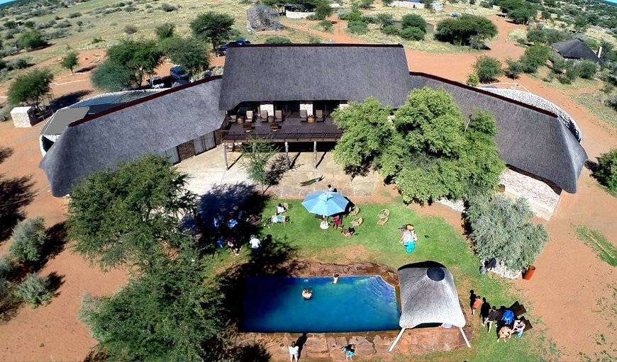 Main lapa with restaurant, bar and swimming pool in Gobabis, Omaheke, Namibia
