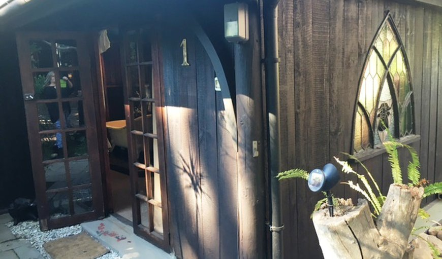 The Inyathi Courtyard cabin has a lovely private deck access through double doors