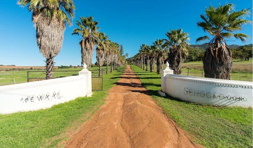 Entrance to wine farm in Windmeul, Paarl, Western Cape , South Africa