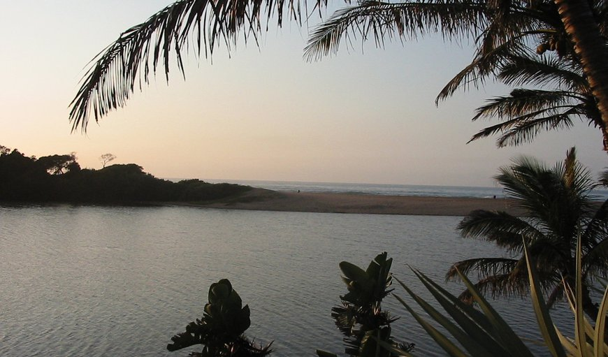 Lagoon views in Zinkwazi Beach, KwaZulu-Natal, South Africa