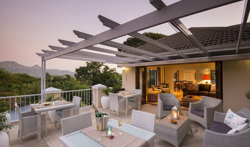 Large main patio with stunning mountain views.  Lounge in the background.
