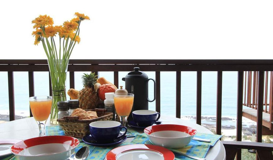 Breakfast served on the balcony in Ballito, KwaZulu-Natal , South Africa