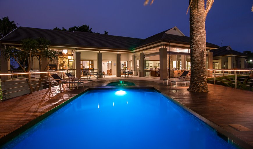 Pool deck - night view