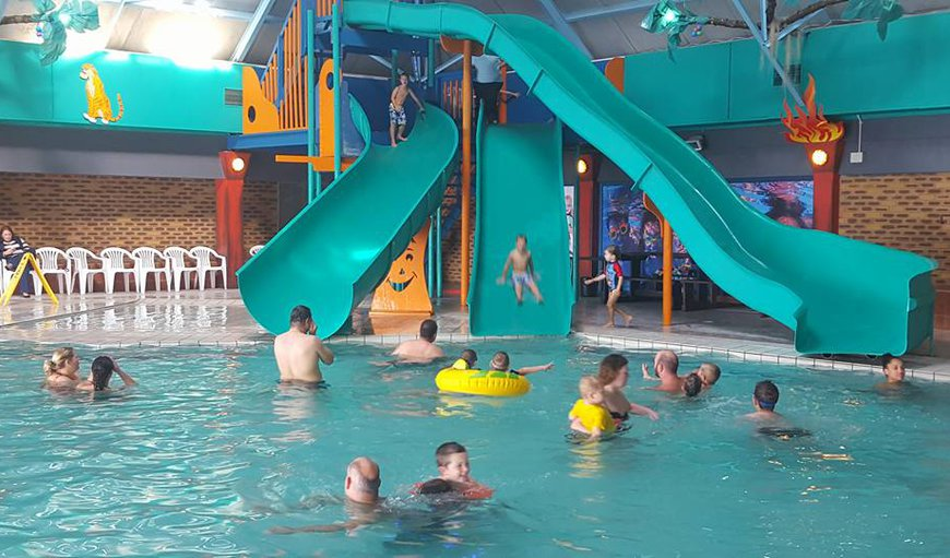 Wonderful indoor pool with 3 slides available on site