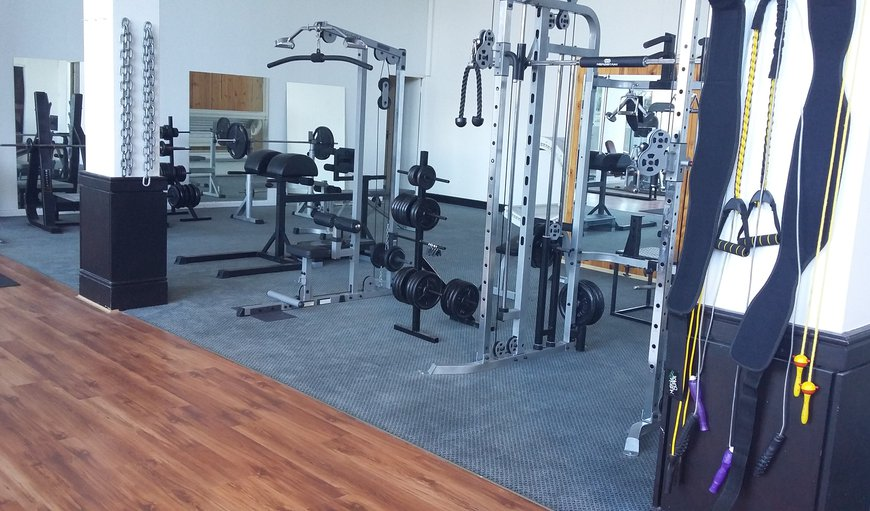 Fully equipped gym available for guests' use.  Comes complete with sauna, sun bed and personal trainer by appointment