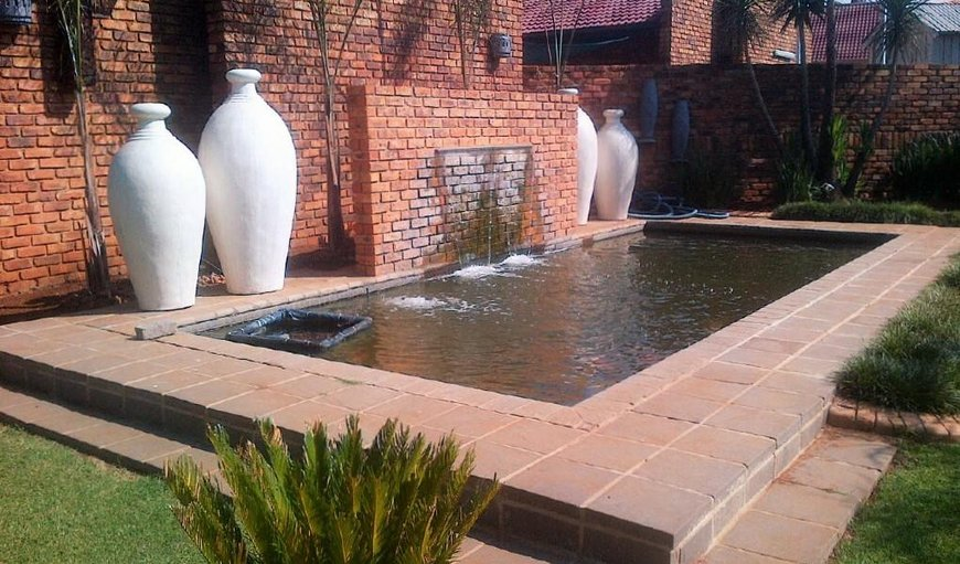 Garden with beautiful water feature