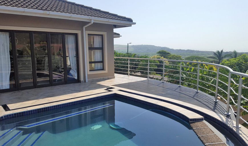 The pool area has stunning views of the area and sea and river