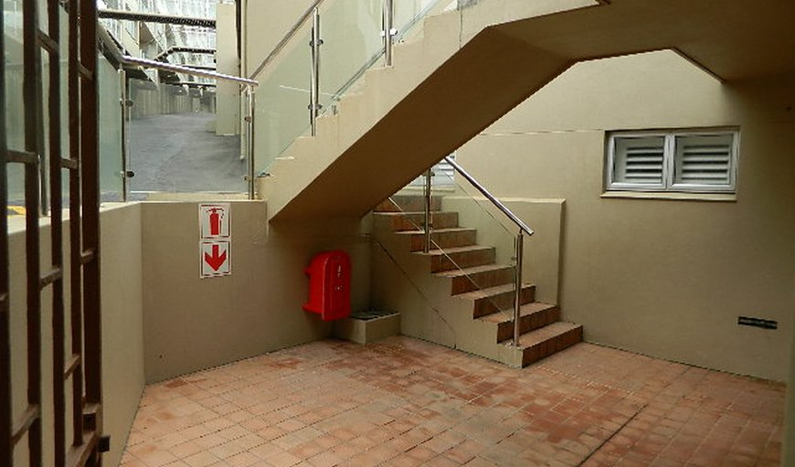 Stairs leading from parking to unit 10 stairs