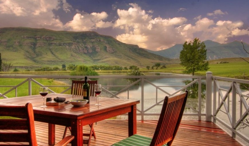 Royal Coachman Lodge have the most beautiful views in Clarens, Free State Province, South Africa