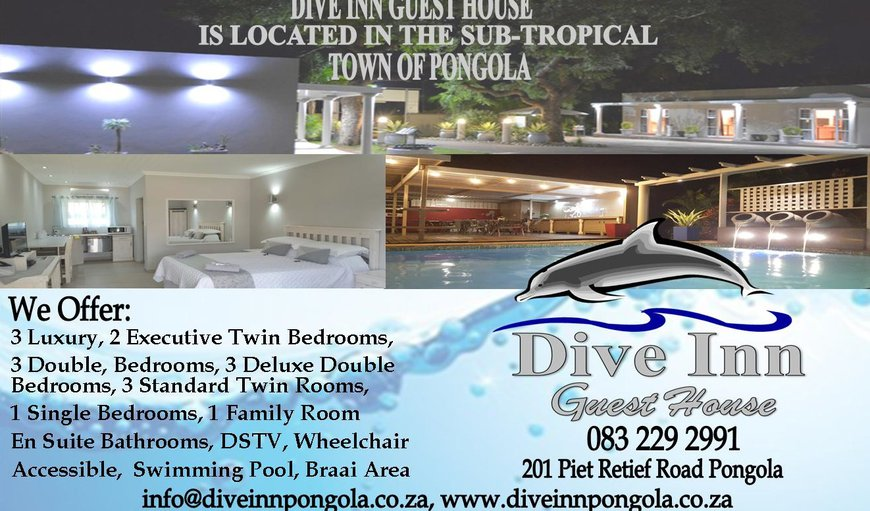 Dive Inn Guest House in Pongola, KwaZulu-Natal, South Africa