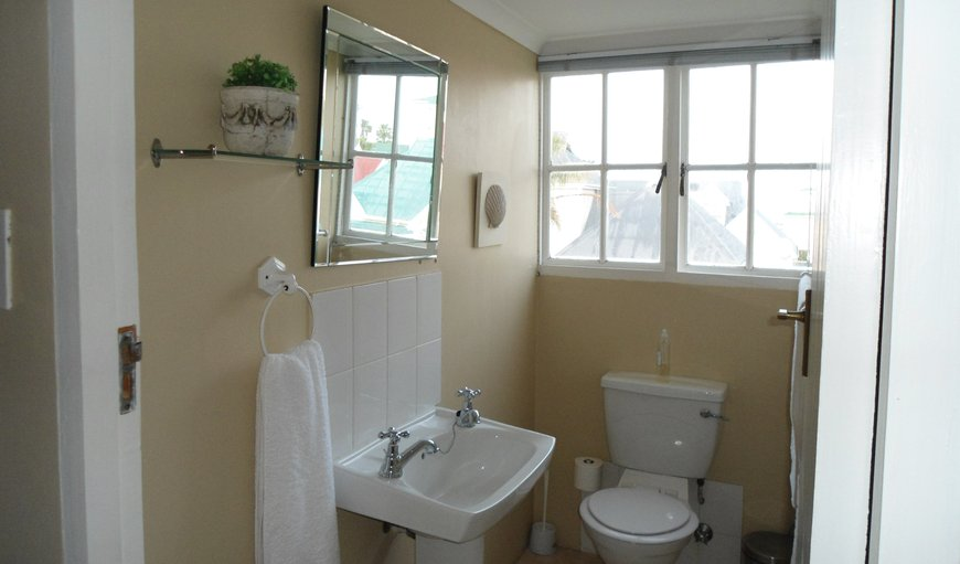 Upstairs bathroom with shower and toilet