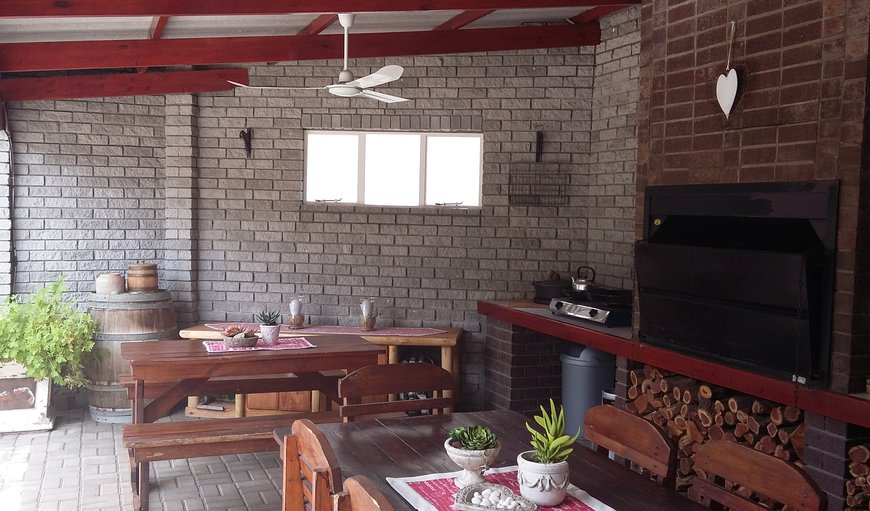 Large braai room with gas top stove