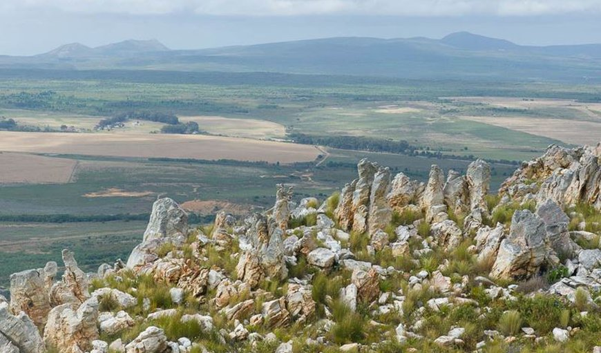View across Overberg in Stanford, Western Cape, South Africa
