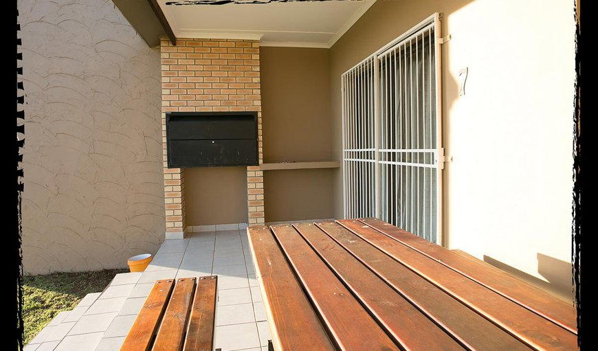 Built-in braai on your private patio in two bedroom unit