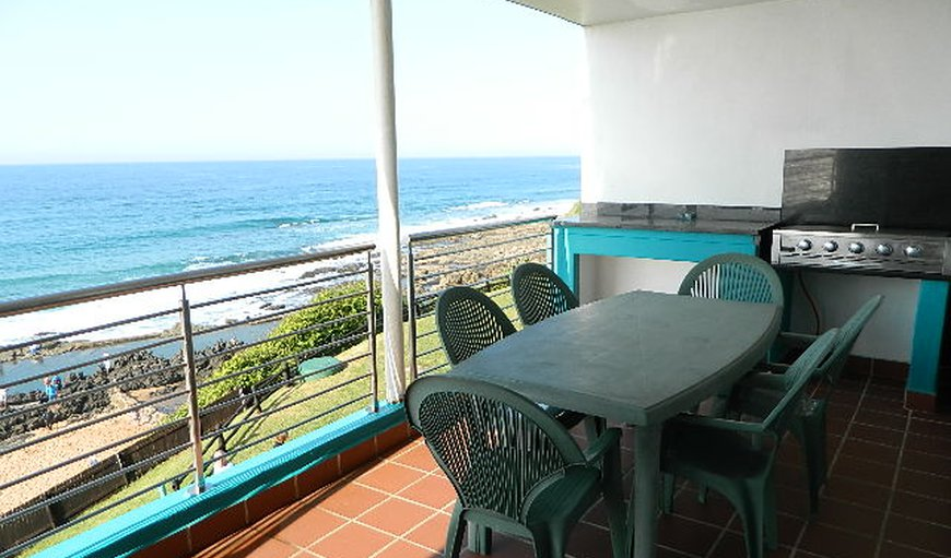 Seating and Braai Facilities on Balcony in Ballito, KwaZulu-Natal, South Africa