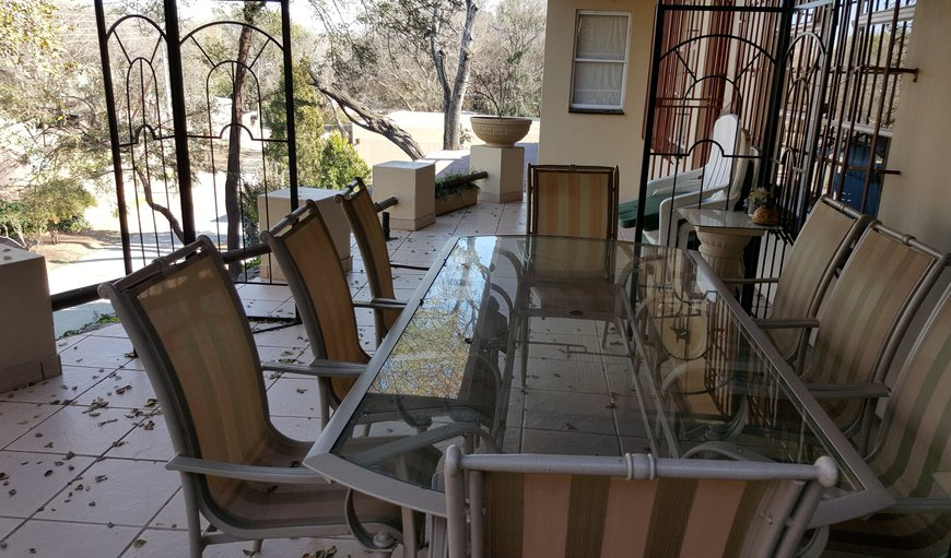 Outside Patio area with Dining Table