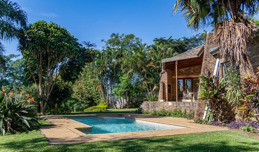 Welcoming garden with a sparkling swimming pool in Westville, Durban, KwaZulu-Natal, South Africa