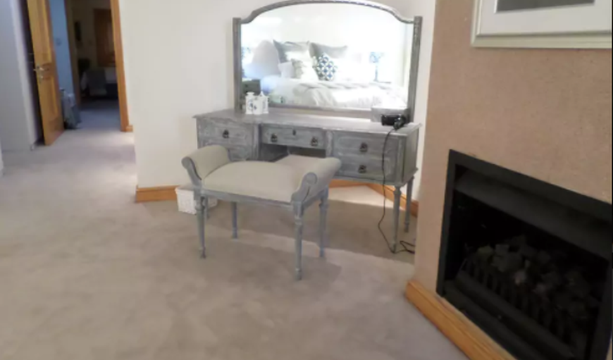 Main Bedroom showing Dressing table and fireplace