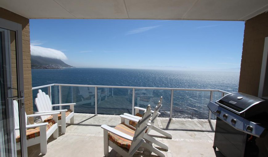 Cape-x-ta-sea 4 bedroom villa balcony with sea views. in Fish Hoek, Cape Town, Western Cape , South Africa