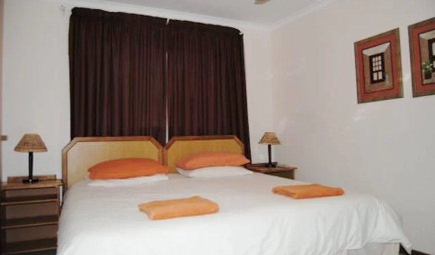 Single room with double bed.