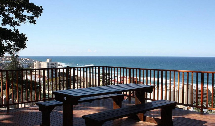 Deck with seating and beautiful sea views