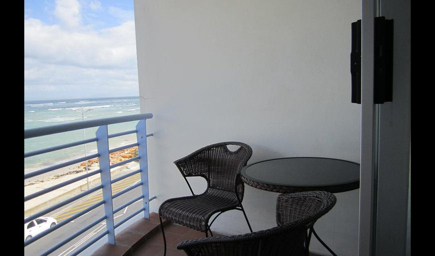 Apartment 215 balcony with a stunning ocean view.
