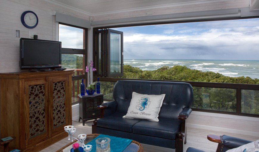 Honeymoon suite lounge  has a wonderful sea view